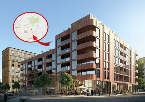 Här ska byggas lägenheter– i trä