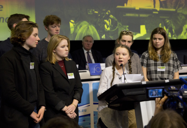 Greta Thunberg stort dragplåster i Bryssel