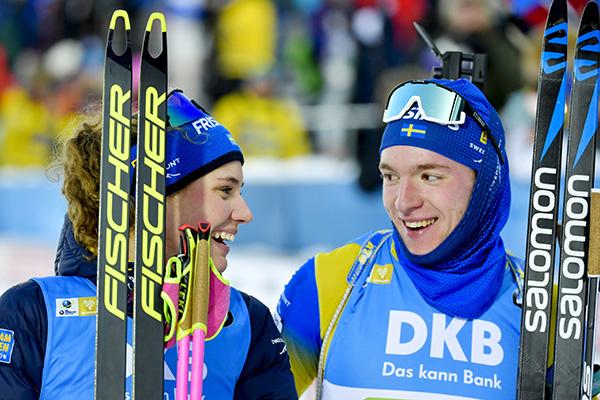 Sverige missade medalj i singelmixedstafett