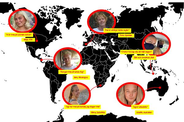 Så ser vardagen ut för svenskar runt om i världen